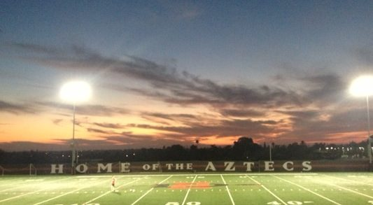 The sunsets over the practice field have been amazing as of late