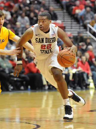 Senior guard Chase Tapley will play at Viejas Arena for the last time Wednesday night. (Ernie Anderson)