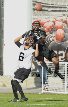 Ezell Ruffin will be a key component of what the Aztecs hope will be an explosive passing game in 2013. (Ernie Anderson)
