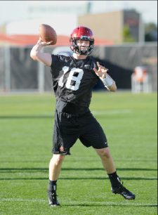 Junior college transfer Quinn Kaehler has emerged as one of the top candidates for backup quarterback. (Ernie Anderson)