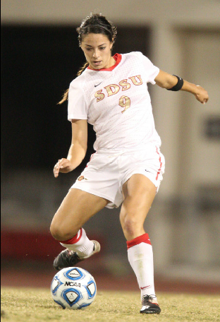 Tiffany Hurst was a key component on one of the most successful women's soccer teams in school history. (Stan Lui)