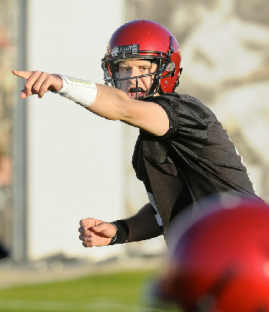 Junior quarterback Adam Dingwell has likely secured his spot as the starter in 2013. (Ernie Anderson/SDSU Media Relations)