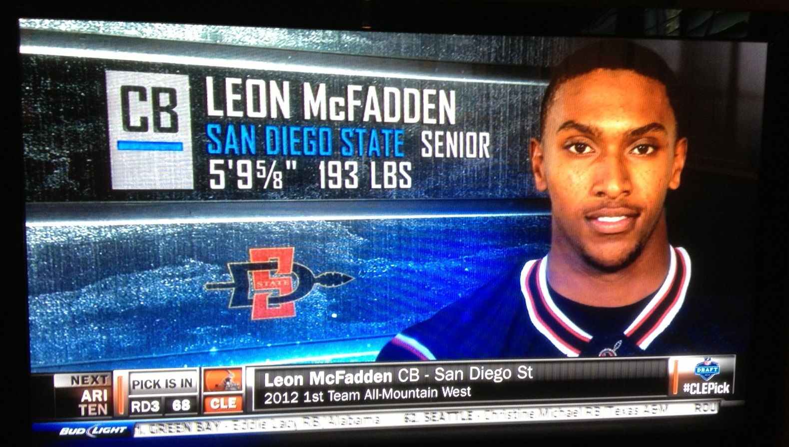 Leon McFadden drafted by the Cleveland Browns – Aztecs For ...