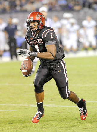 'Aztec For Life' DeMarco Sampson signed with the Philadelphia Eagles this offseason. (Ernie Anderson)
